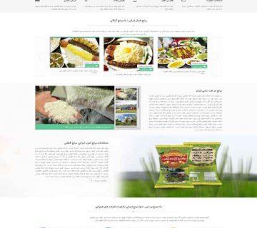 طراحی وبسایت فارسی ماه برنج رستمی