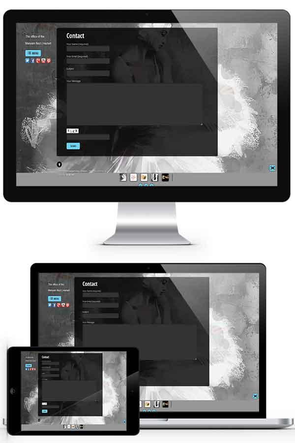 طراحی وبسایت شخصی خانم مریم نازی