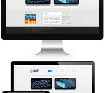 طراحی سایت شرکت امنیتی داده و اطلاعات شمال